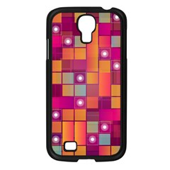 Abstract Background Colorful Samsung Galaxy S4 I9500/ I9505 Case (Black)