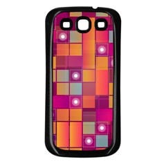 Abstract Background Colorful Samsung Galaxy S3 Back Case (Black)