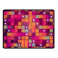 Abstract Background Colorful Double Sided Fleece Blanket (Small)