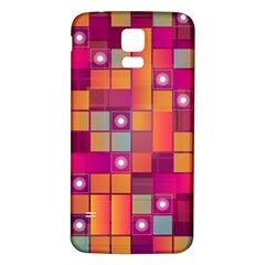 Abstract Background Colorful Samsung Galaxy S5 Back Case (White)