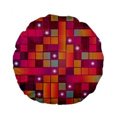 Abstract Background Colorful Standard 15  Premium Flano Round Cushions