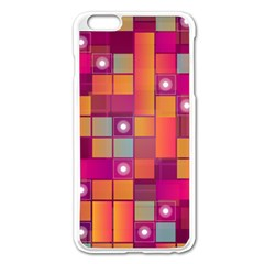 Abstract Background Colorful Apple iPhone 6 Plus/6S Plus Enamel White Case