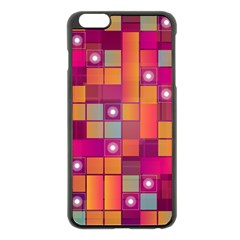 Abstract Background Colorful Apple iPhone 6 Plus/6S Plus Black Enamel Case