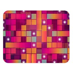 Abstract Background Colorful Double Sided Flano Blanket (Large)