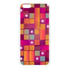 Abstract Background Colorful Apple Seamless iPhone 6 Plus/6S Plus Case (Transparent)