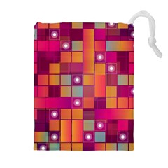 Abstract Background Colorful Drawstring Pouches (Extra Large)