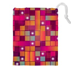 Abstract Background Colorful Drawstring Pouches (XXL)