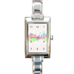 Abstract Color Pattern Colorful Rectangle Italian Charm Watch