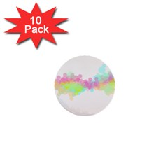 Abstract Color Pattern Colorful 1  Mini Buttons (10 pack)