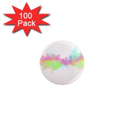 Abstract Color Pattern Colorful 1  Mini Magnets (100 pack)