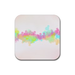 Abstract Color Pattern Colorful Rubber Coaster (square)