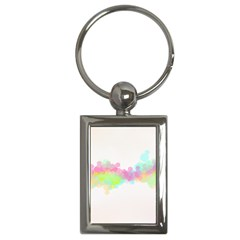 Abstract Color Pattern Colorful Key Chains (Rectangle)
