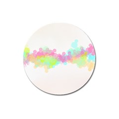 Abstract Color Pattern Colorful Magnet 3  (Round)