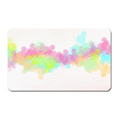 Abstract Color Pattern Colorful Magnet (Rectangular)