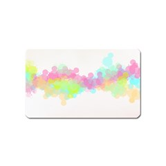 Abstract Color Pattern Colorful Magnet (Name Card)