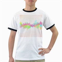 Abstract Color Pattern Colorful Ringer T-Shirts