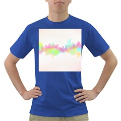 Abstract Color Pattern Colorful Dark T Shirt