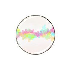 Abstract Color Pattern Colorful Hat Clip Ball Marker (10 pack)
