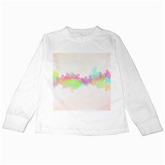 Abstract Color Pattern Colorful Kids Long Sleeve T-Shirts