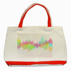 Abstract Color Pattern Colorful Classic Tote Bag (Red)