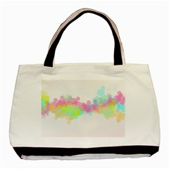 Abstract Color Pattern Colorful Basic Tote Bag (Two Sides)
