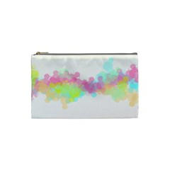 Abstract Color Pattern Colorful Cosmetic Bag (Small)