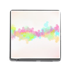 Abstract Color Pattern Colorful Memory Card Reader (square)