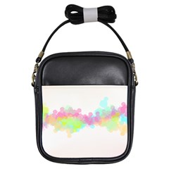 Abstract Color Pattern Colorful Girls Sling Bags