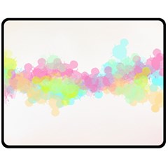 Abstract Color Pattern Colorful Fleece Blanket (medium)