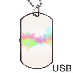 Abstract Color Pattern Colorful Dog Tag USB Flash (Two Sides)