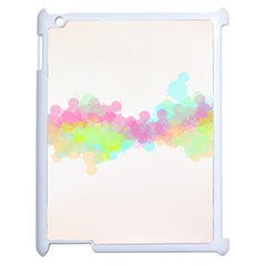 Abstract Color Pattern Colorful Apple Ipad 2 Case (white)