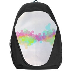Abstract Color Pattern Colorful Backpack Bag
