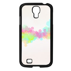 Abstract Color Pattern Colorful Samsung Galaxy S4 I9500/ I9505 Case (Black)