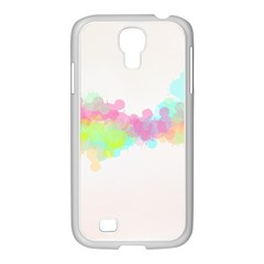 Abstract Color Pattern Colorful Samsung GALAXY S4 I9500/ I9505 Case (White)