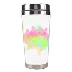 Abstract Color Pattern Colorful Stainless Steel Travel Tumblers