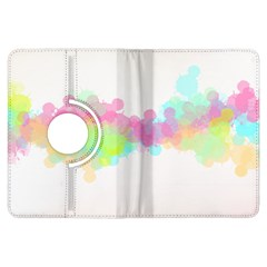 Abstract Color Pattern Colorful Kindle Fire Hdx Flip 360 Case