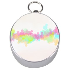Abstract Color Pattern Colorful Silver Compasses