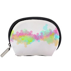 Abstract Color Pattern Colorful Accessory Pouches (Small)