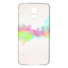 Abstract Color Pattern Colorful Samsung Galaxy S5 Back Case (White)