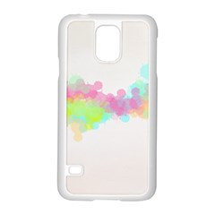 Abstract Color Pattern Colorful Samsung Galaxy S5 Case (White)