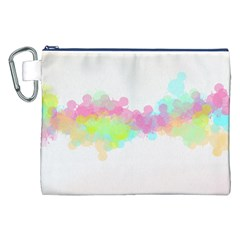 Abstract Color Pattern Colorful Canvas Cosmetic Bag (XXL)