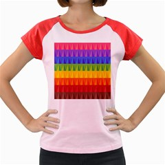Abstract Pattern Background Women s Cap Sleeve T Shirt