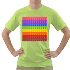 Abstract Pattern Background Green T-Shirt