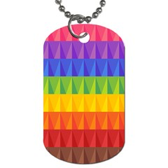 Abstract Pattern Background Dog Tag (one Side)