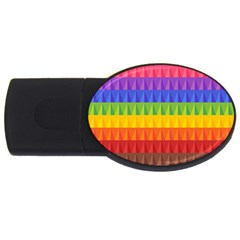 Abstract Pattern Background USB Flash Drive Oval (1 GB)