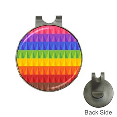 Abstract Pattern Background Hat Clips with Golf Markers