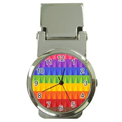 Abstract Pattern Background Money Clip Watches