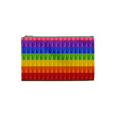 Abstract Pattern Background Cosmetic Bag (Small)