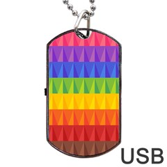 Abstract Pattern Background Dog Tag USB Flash (Two Sides)