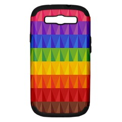 Abstract Pattern Background Samsung Galaxy S III Hardshell Case (PC+Silicone)
